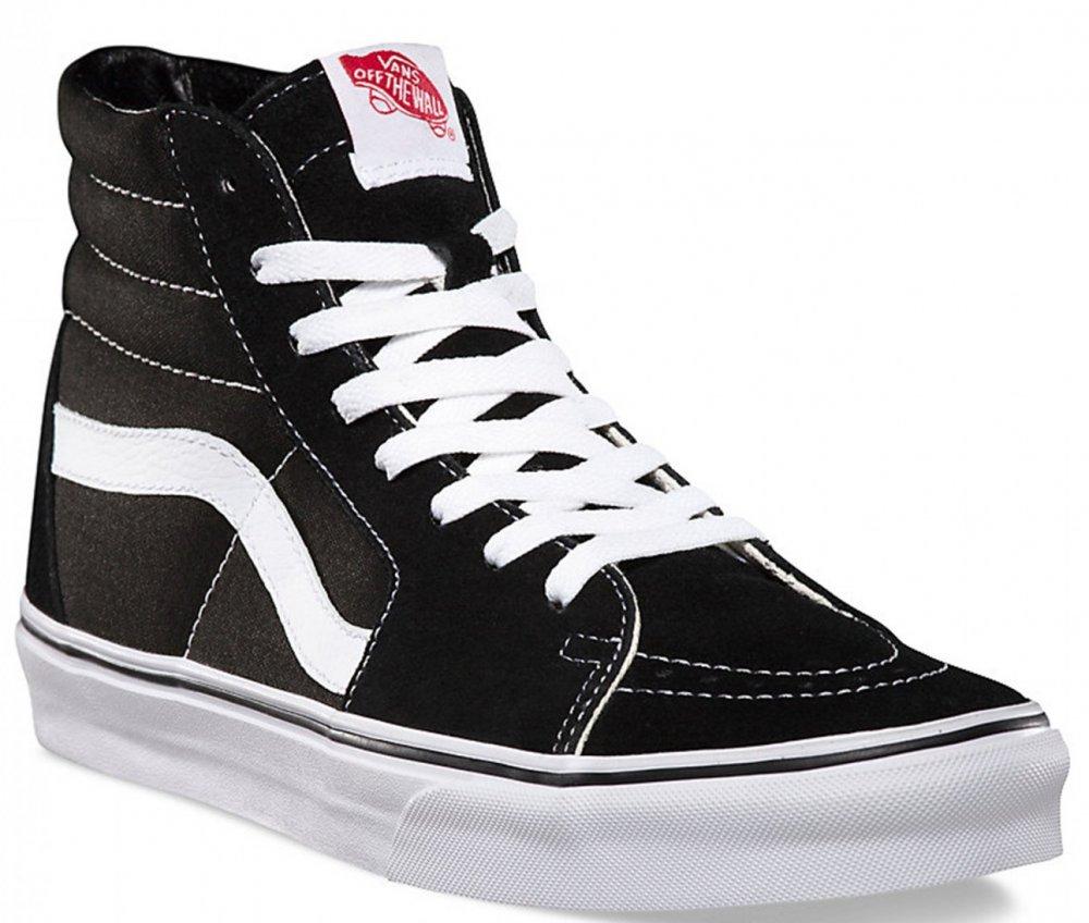 Boty Vans SK8-Hi black-black-white 37