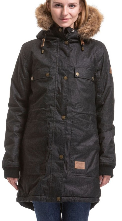 Bunda Meatfly Ruby Parka black heather