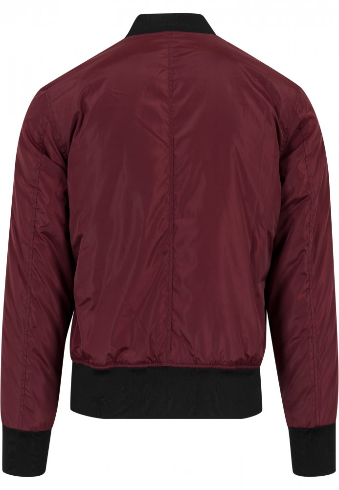 2-Tone Bomber Jacket - burgundy/black
