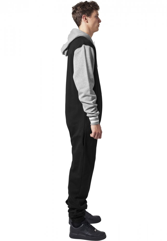 College Sweat Jumpsuit - blk/gry