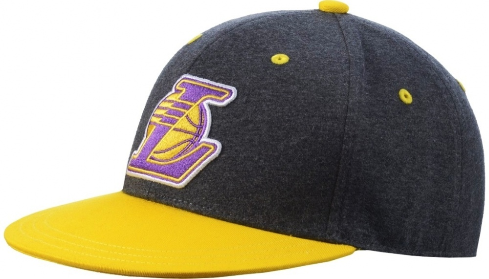 Kšiltovka Adidas Fitted Lakers dark grey heather - Velikost: L