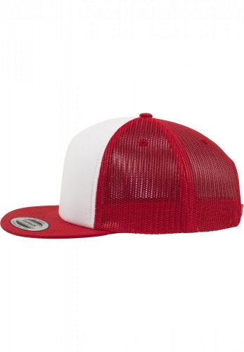 Kšiltovka Trucker with White Front - red/wht/red