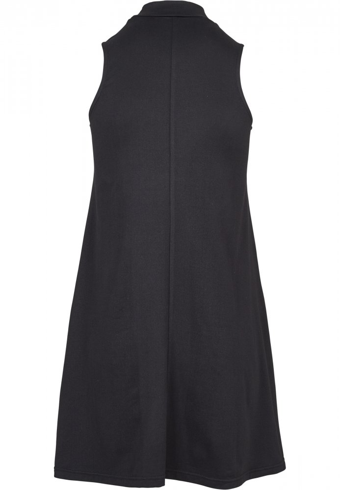 Ladies A-Line Turtleneck Dress - black