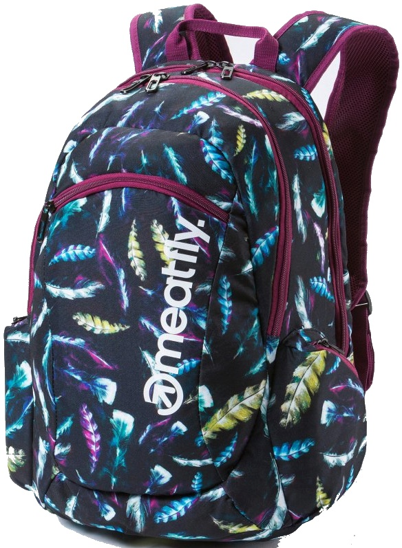 Batoh Meatfly Purity black feather print 26l