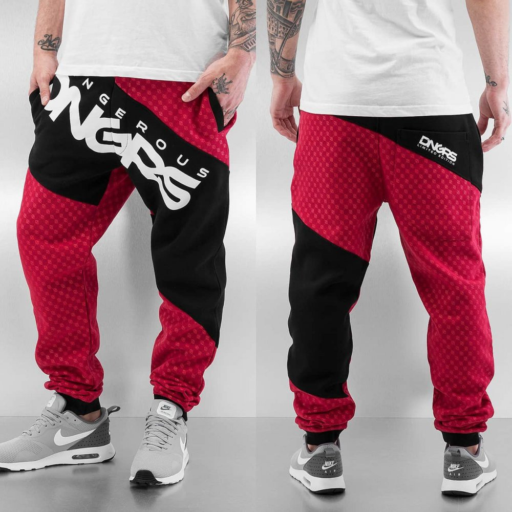 Dangerous DNGRS / Sweat Pant Toco in red