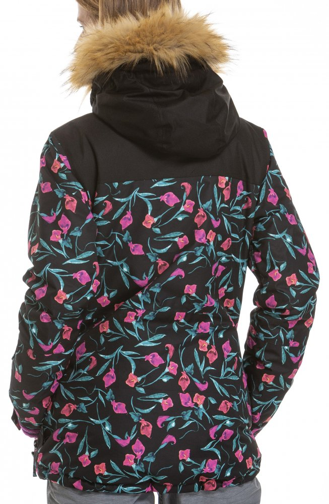 Bunda Meatfly Chelsea kala flowers, black