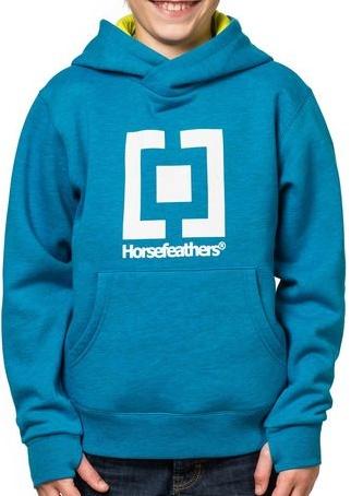 Dětská mikina Horsefeathers Leader Kids heather blue L-dětská vel.