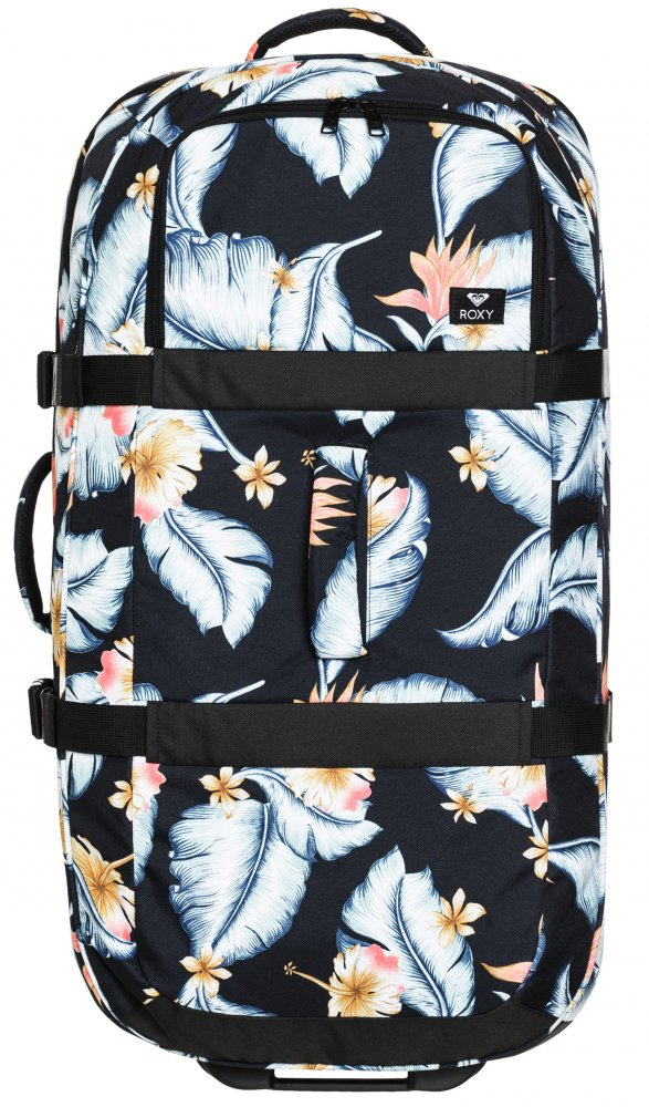 Kufr Roxy Long Haul anthracite tropical love 105l