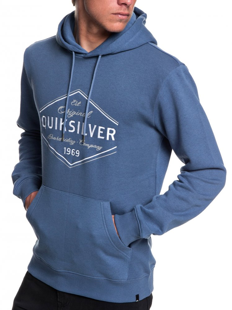 Mikina Quiksilver Nowhere North Hood bijou blue L